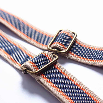 Double Suspenders Blue/Brown - Golden Age Bartending Bar Tools