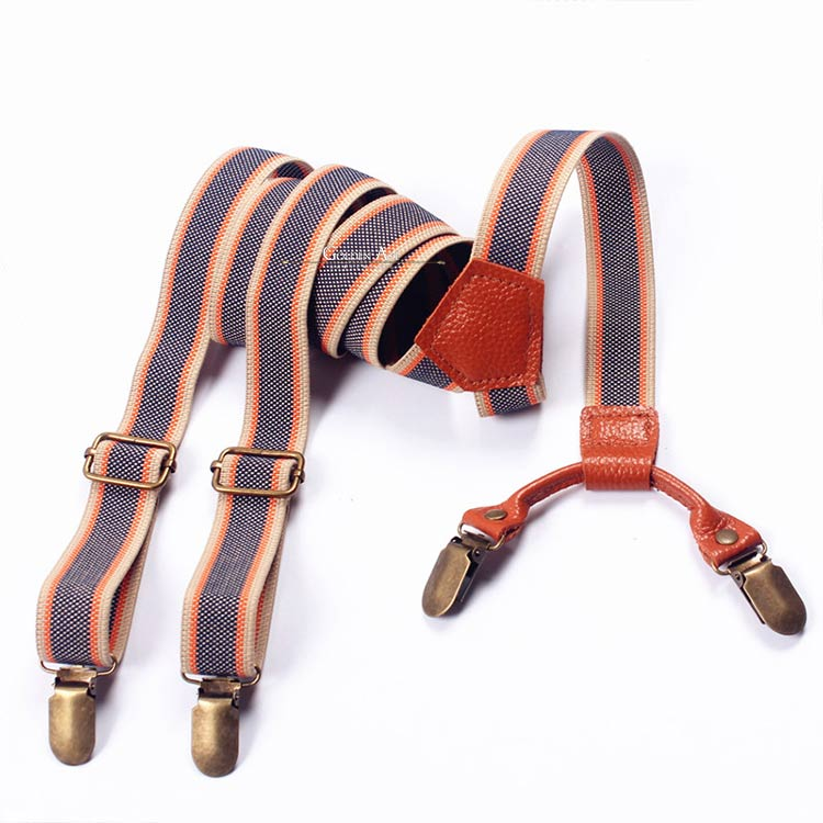 ON SALE! Double Suspenders Blue/Brown - Golden Age Bartending Bar Tools