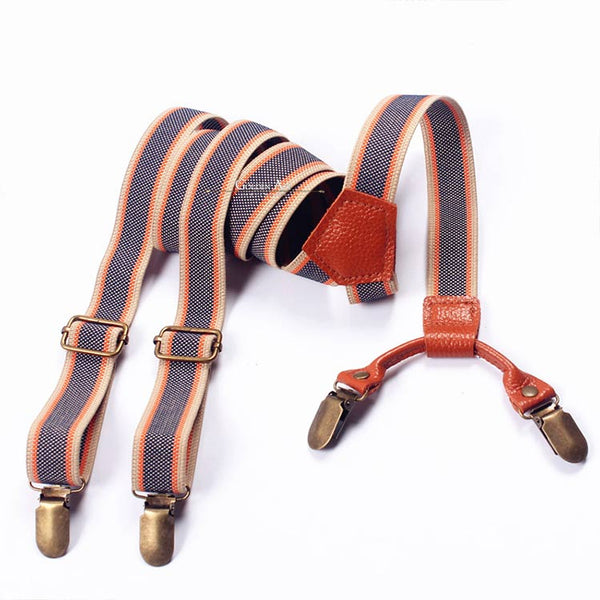 Double Suspenders Blue/Brown