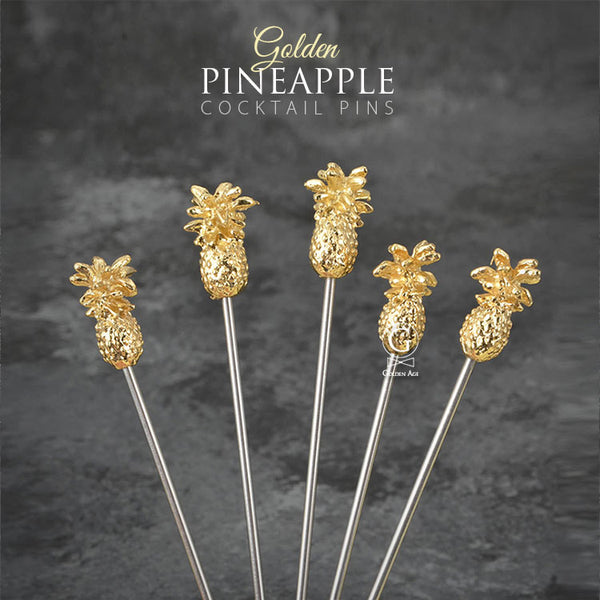 Cocktail Picks -  Golden Pineapple