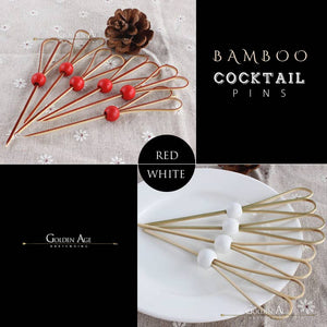 Cocktail Picks - Bamboo - 12 cms - set of 100 - Golden Age Bartending Bar Tools