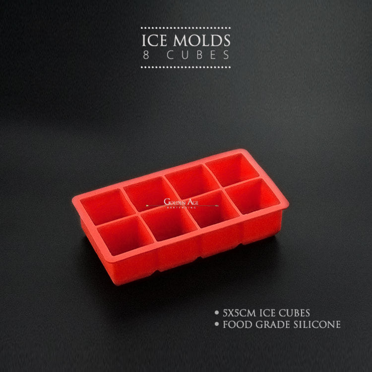 Ice Molds - 8 cubes - Golden Age Bartending Bar Tools