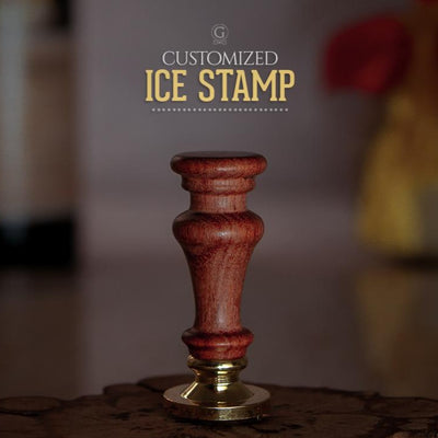 ROUNDED Ice Stamp - Golden Age Bartending Bar Tools