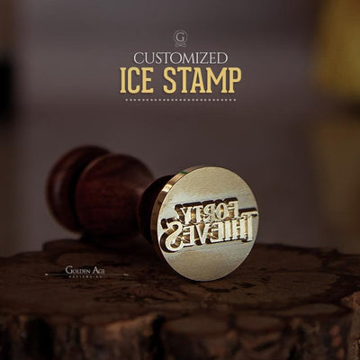 ROUNDED Ice Stamp - Golden Age Bartending