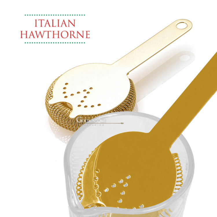 Italian Hawthorne Strainers - Golden Age Bartending Bar Tools
