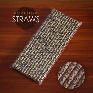 ON SALE! Deco straws x 25 - Different designs - Golden Age Bartending Bar Tools