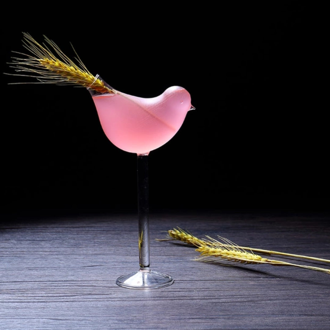 Bird Cocktail Glass
