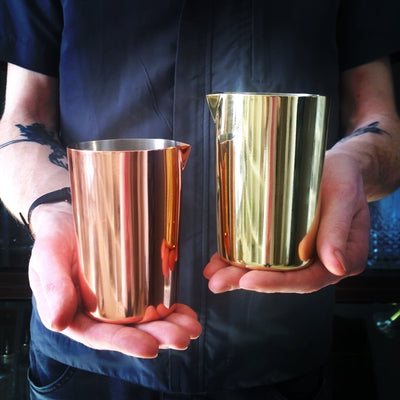 Metal Mixing Glasses - COPPER - Golden Age Bartending Bar Tools