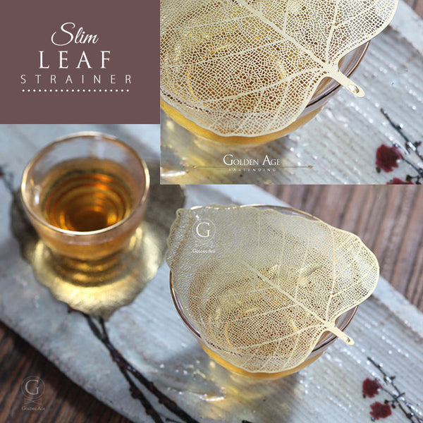 Slim Leaf Strainer Golden