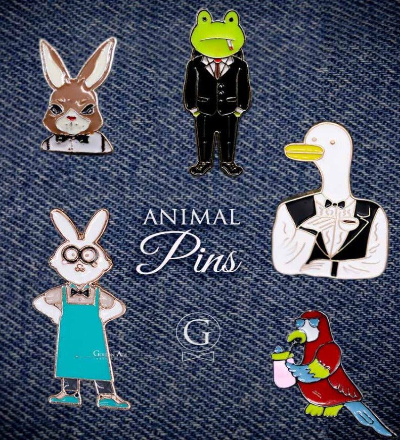 PINS - Animal - Golden Age Bartending Bar Tools