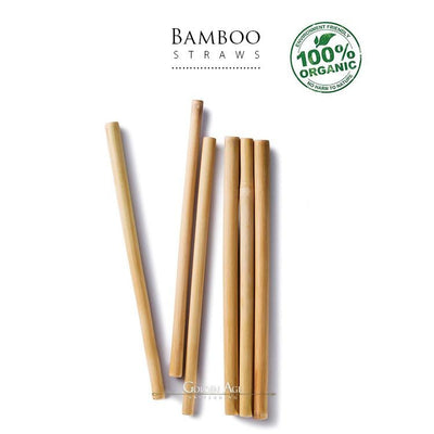 6 x Bamboo Straws - Golden Age Bartending Bar Tools