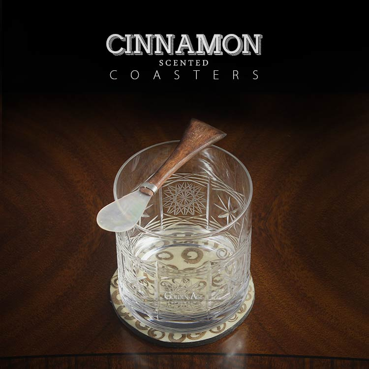 Cinnamon scented coaster x 1 - Golden Age Bartending Bar Tools
