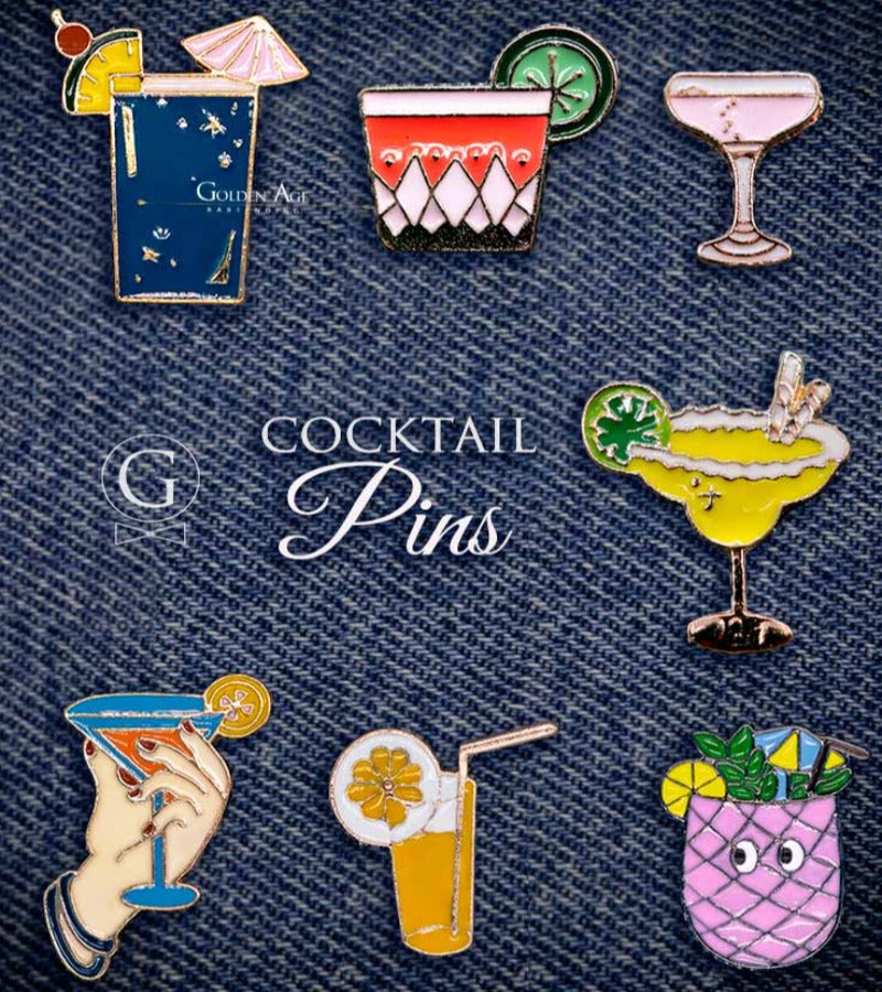 PINS - Classic Cocktails - Golden Age Bartending Bar Tools