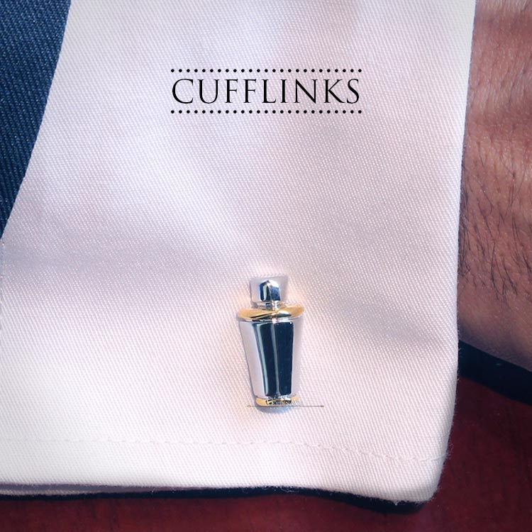 Cufflinks - SHAKER & MARTINI - Golden Age Bartending Bar Tools