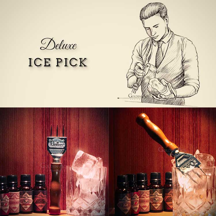 Ice Pick Deluxe - Golden Age Bartending Bar Tools