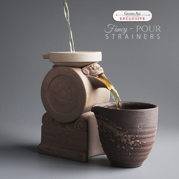 Ceramic Strainers - Fancy pour - Golden Age Bartending