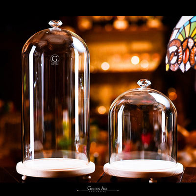 Glass Dome for Smoking - Golden Age Bartending Bar Tools