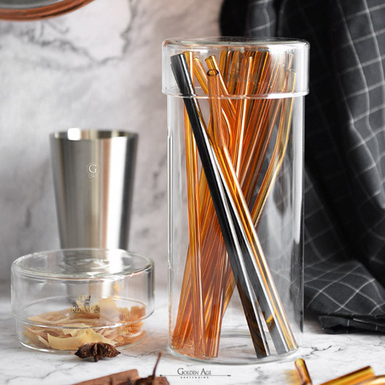 Glass Straws - Golden Age Bartending Bar Tools