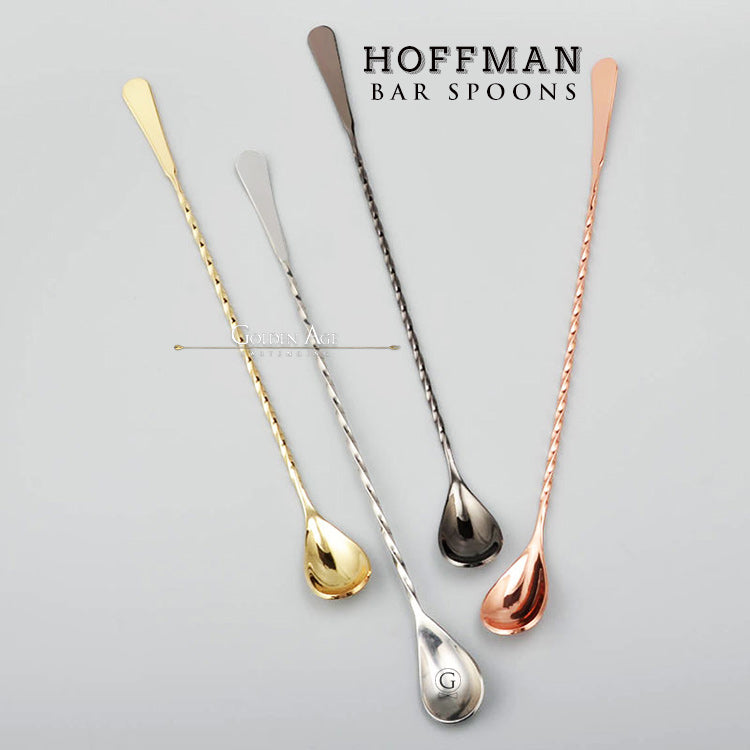 Bar Spoons Hoffman - 30-35-40cm - Golden Age Bartending Bar Tools