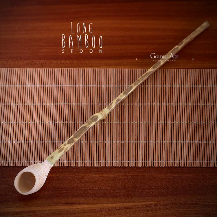 CLEARANCE! Long Bamboo Spoon - Golden Age Bartending Bar Tools
