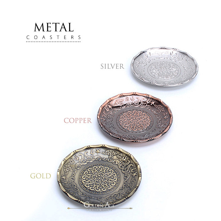 Metal Coasters - Golden Age Bartending Bar Tools