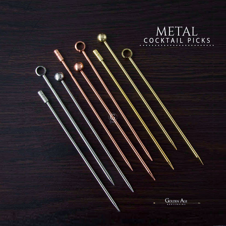 Cocktail Picks - METAL - Golden Age Bartending Bar Tools