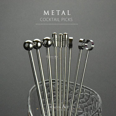 10 x Cocktail Picks - METAL - Golden Age Bartending Bar Tools