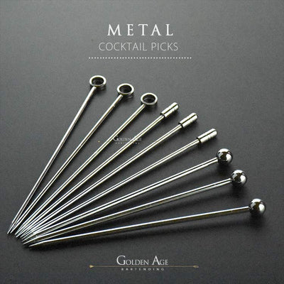 10 x Cocktail Picks - METAL - Golden Age Bartending