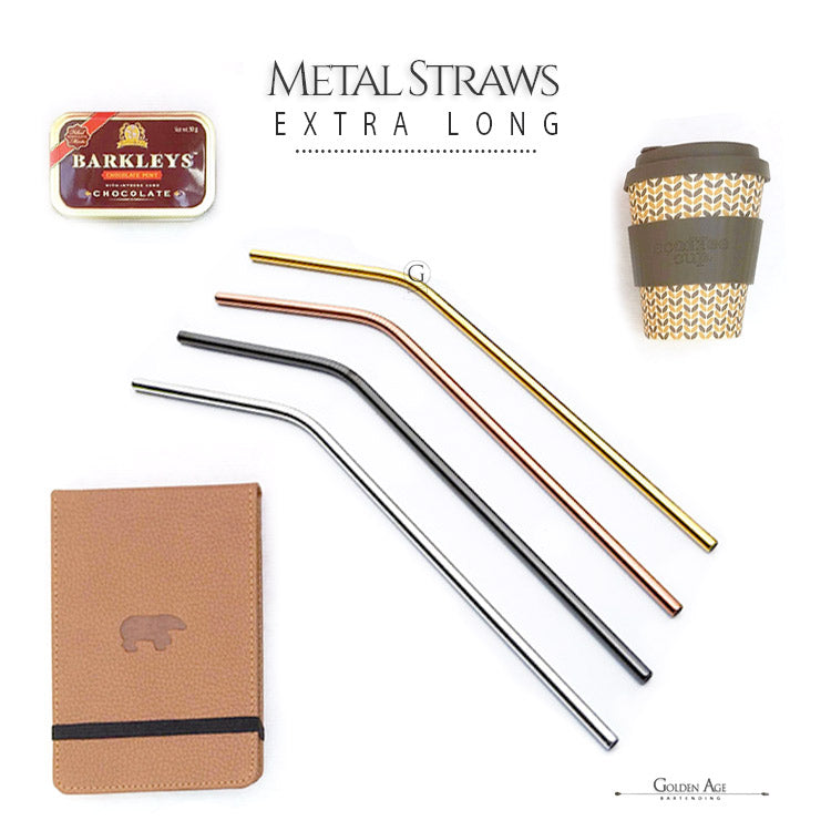 6 x Metal Straws - XL