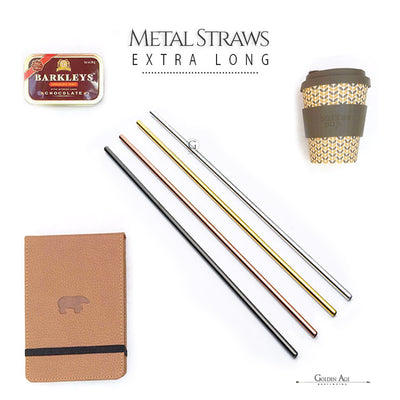 Metal Straws - XL - 26.5 cm - Golden Age Bartending