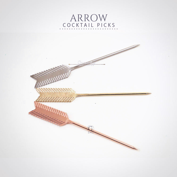10 x Cocktail Picks - ARROW - Golden Age Bartending