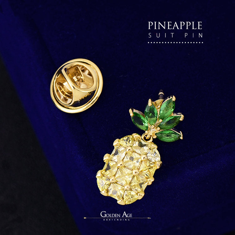 PINS - Shinny Pineapple - Golden Age Bartending Bar Tools