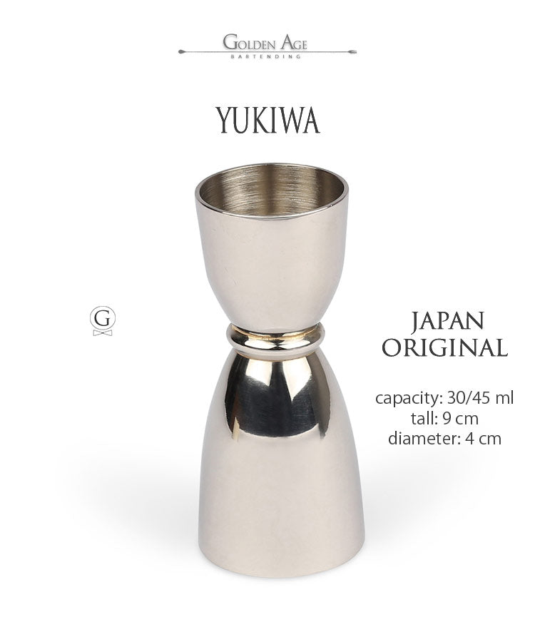 YUKIWA Bell Jigger - 30, 45ml - Golden Age Bartending Bar Tools