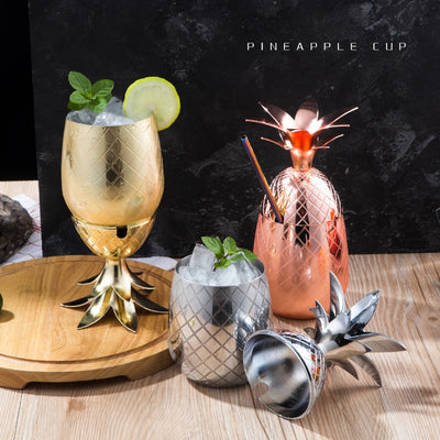 Pineapple Cups 500 & 900ml + Free Shipping - Golden Age Bartending Bar Tools