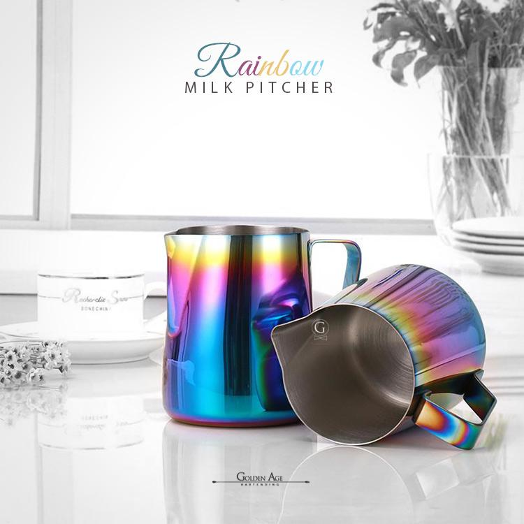 Rainbow Milk Pitcher + Free Shipping - Golden Age Bartending Bar Tools