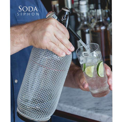 Soda Siphon - 1000ml - Glass - Golden Age Bartending Bar Tools