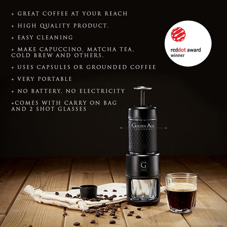 Portable Espresso Machine - STARESSO - Golden Age Bartending