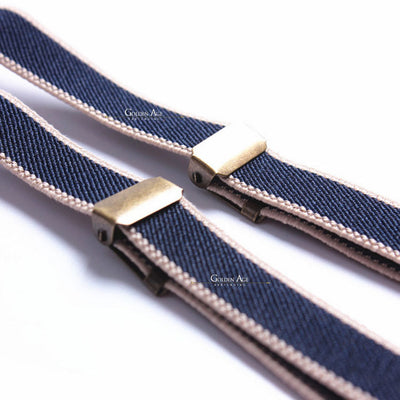 Single Suspenders Blue - Golden Age Bartending Bar Tools