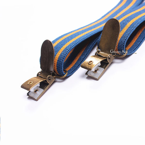 Double Suspenders Blue/Orange