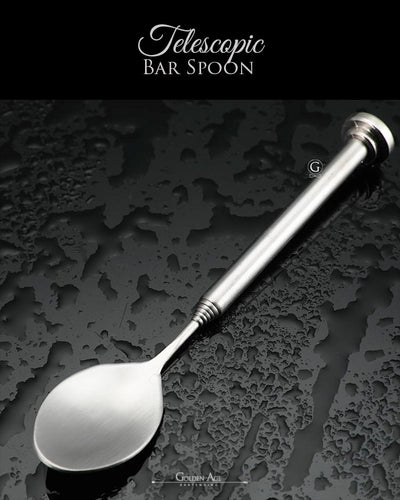 10 x Bar Spoons TELESCOPIC - Golden Age Bartending
