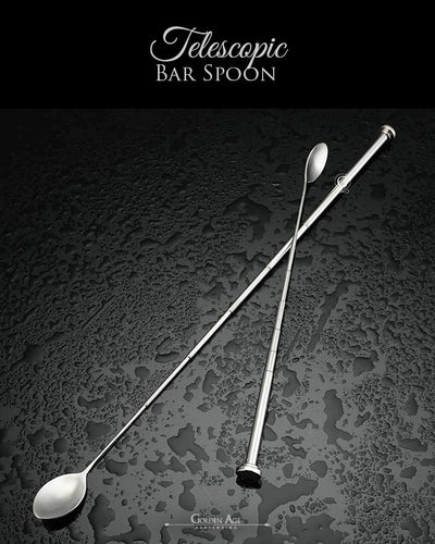 10 x Bar Spoons TELESCOPIC - Golden Age Bartending Bar Tools