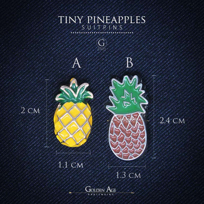 PINS - Tiny Pineapples - Golden Age Bartending Bar Tools