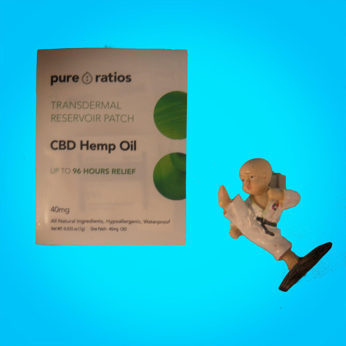 96 Hour CBD pain patch 40mg - latex-free, waterproof-pain-Uncommon Remedy