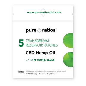 96 Hours Lab Tested CBD 40mg patches - 5 latex-free, waterproof patches-pain-Uncommon Remedy