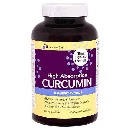 Curcumin Time-Release High Absorption - 100 capsules 3x stronger