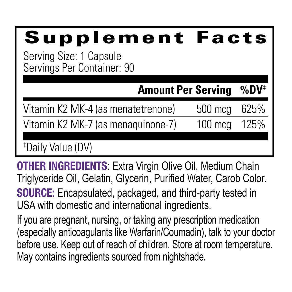 Full Spectrum Vitamin K2 - 90 mini caps-supplement-Uncommon Remedy