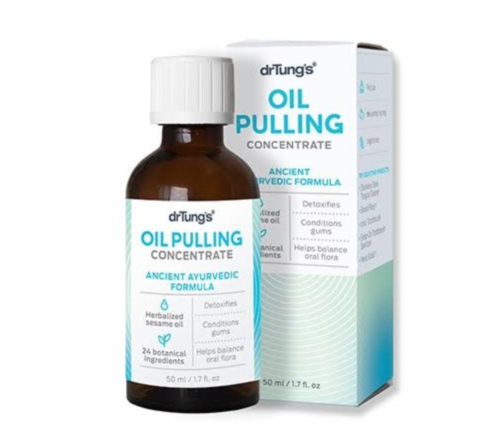Herbal Oil Pulling Concentrate for teeth, gums and oral flora 1.7 oz