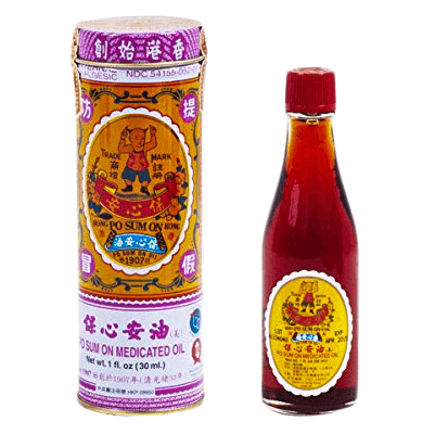Po Sum On warming remedy oil for injury, pain 100ml