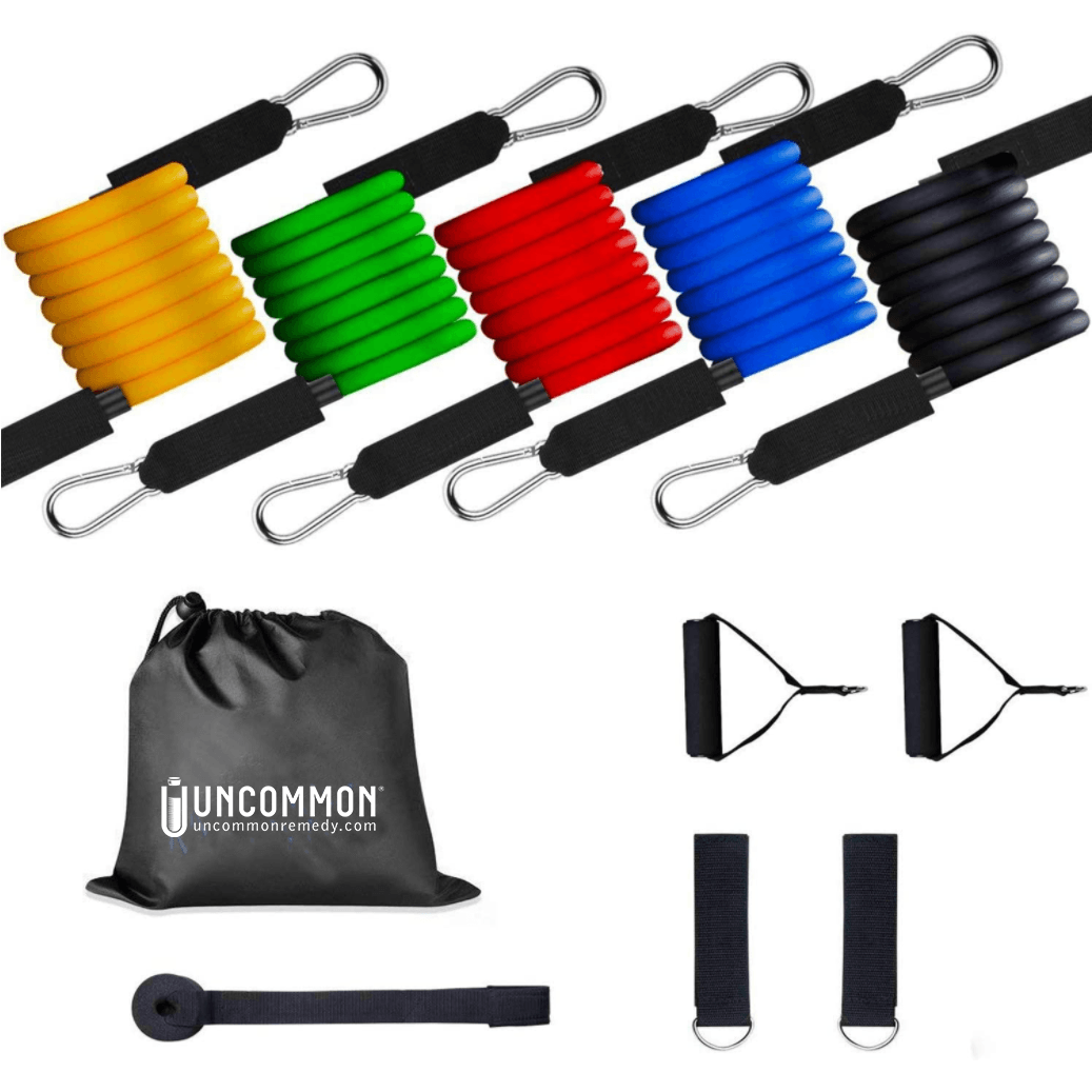 STRETCH resistance band set for your own home workout - 5|10|15|20|30 lbs-Weight-Uncommon Remedy