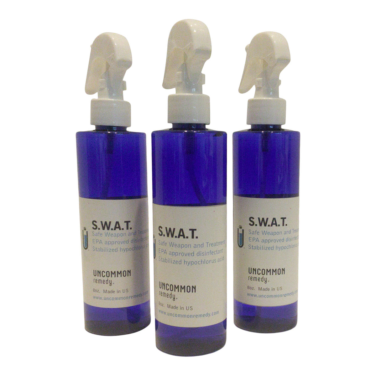 3 Pack S.W.A.T. EPA approved Virus/Bacteria disinfectant 8oz.-anti-viral-Uncommon Remedy